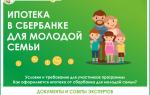 Ипотека для молодой семьи в Сбербанке: условия программ и процентные ставки