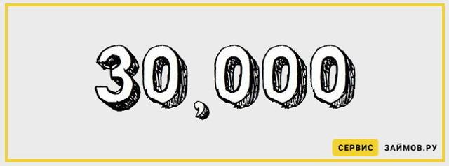 Где взять займ до 30000 рублей: список мфо, проценты и отзывы
