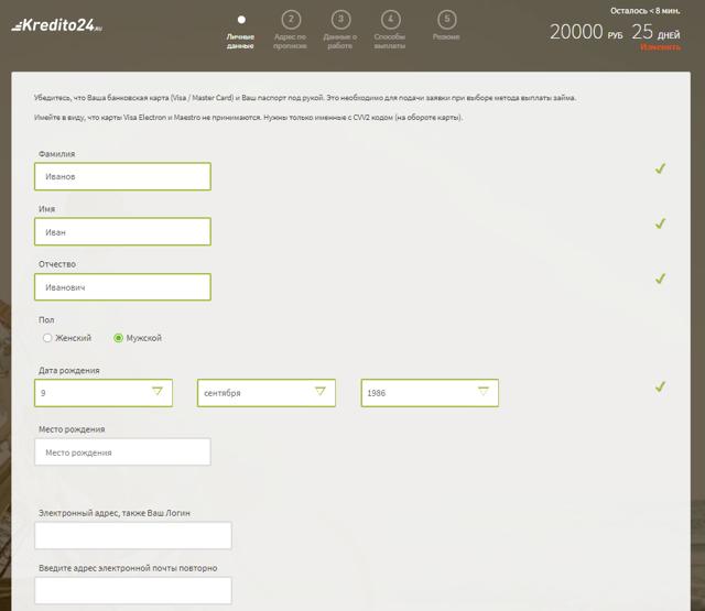 Микрозаймы в Кредито 24: как подать онлайн-заявку и необходимые документы для оформления