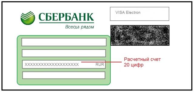 Вид счета зарплатной карты Сбербанка