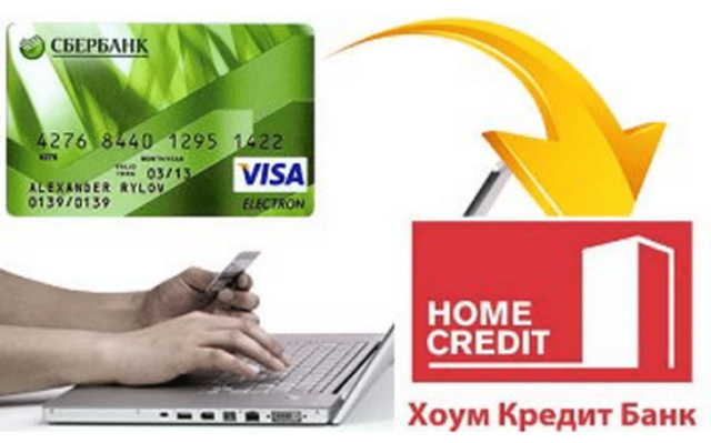 Как оплатить Хоум Кредит с карты Сбербанка