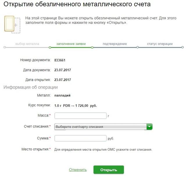 Палладий: цена за 1 грамм в рублях в Сбербанке