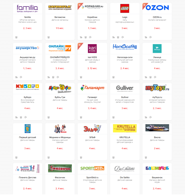 Полный список из магазинов-партнеров по карте рассрочки халва