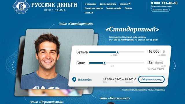 Русские Деньги: как взять микрозайм онлайн и обзор тарифных планов компании