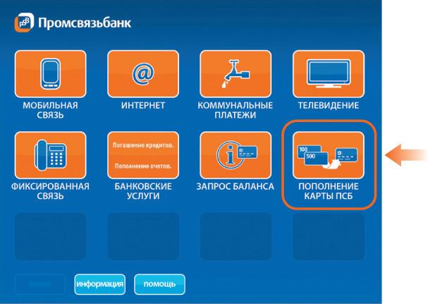 Перевод с карты Промсвязьбанка на карту Сбербанка