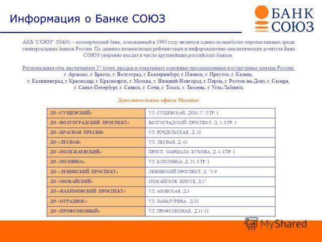 Ипотека в банке Союз: условия и программы ипотечного кредитования, отзывы клиентов